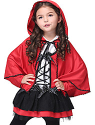 cheap -Angel / Devil Movie / TV Theme Costumes Little Red Riding Hood Dress Cloak Halloween Props Party Costume Masquerade Kid's Girls' Cosplay Halloween Halloween Festival Halloween Children's Day / Cotton