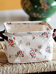 cheap -Cotton Rectangle Adorable Home Organization, 2pcs Storage Boxes / Storage Baskets