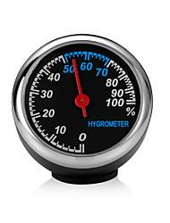 cheap -Mini Car Automobile Digital Clock Auto Watch Automotive Thermometer Hygrometer Decoration Ornament Clock Style  Hygrometer