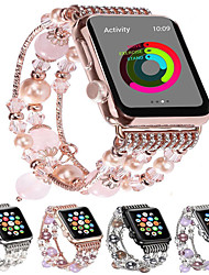 cheap -Fashion Watchband For Apple Watch Band 44mm/40mm/38mm/42mm Bling Women Agate Beads Strap Bracelet Band For Apple Watch Series 6 SE 5 4 3 2 1  For Girls