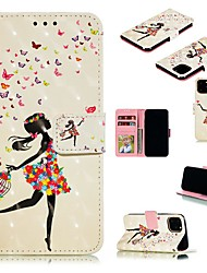 cheap -Case For Apple iPhone 11 / iPhone 11 Pro / iPhone 11 Pro Max Wallet / Card Holder / with Stand Full Body Cases Sexy Lady PU Leather