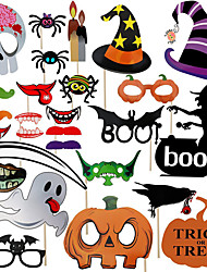 cheap -Halloween / Festival Party Accessories Photo Booth Props & Signs Patterned Hard Card Paper Classic Theme / Creative / Rustic Theme