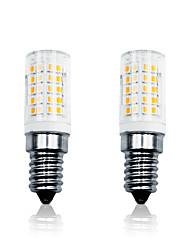 cheap -2pcs 6 W LED Corn Lights 700 lm E14 T 64 LED Beads SMD 2835 Dimmable Warm White White 110-130 V 200-240 V