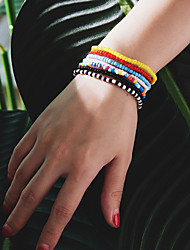 cheap -Women's Bead Bracelet Bracelet Classic Precious Fashion Elegant Acrylic Bracelet Jewelry Black / Cool White / White For Daily