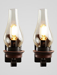 cheap -2pcs Wall Lamps Rustic Lodge Vintage Retro Nordic Glass Industrial Style Wall Sconces for Bedroom Indoor Metal Bedside Wall Lamp
