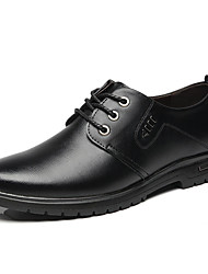 cheap -Men's Leather Shoes PU Summer Oxfords Black / Brown / Party & Evening / Party & Evening