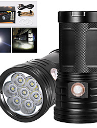 cheap -XM7 LED Flashlights / Torch Waterproof 5600 lm LED LED 7 Emitters Manual 3 Mode with USB Cable Waterproof Professional Anti-Shock Easy Carrying Durable Camping / Hiking / Caving Police / Military