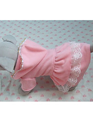 cheap -Cat Dog Costume Shirt / T-Shirt Outfits Dog Clothes Breathable Pink Costume Cotton Heart Skull Cosplay Halloween XS S M L