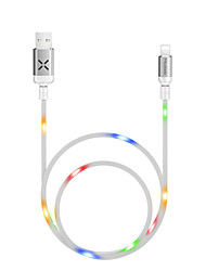cheap -MCDODO X Series Voice Control Lightning Cable with LED 1m