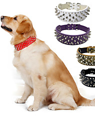 cheap -Dog Collar Portable Solid Colored PU Leather Black Brown White