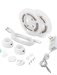 abordables -1set led strip lights activé par le mouvement étanche led cabinet lumière capteur de mouvement pir 3m lit lumière pour la cuisine à domicile (blanc chaud)