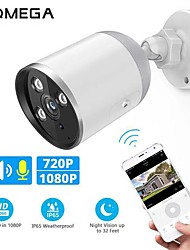cheap -INQMEGA 720P 1080P WIFI IP Camera Bullet ONVIF Outdoor Waterdichte CCTV Security Camera Two Way Audio APP Remote View TF Card