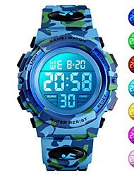 cheap -SKMEI Men's Digital Watch Digital New Arrival Water Resistant / Waterproof Digital Blue Green Dark Blue / Silicone / Stopwatch / Noctilucent