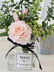 Недорогие -Искусственные Цветы 1 Филиал Классический Modern Вечные цветы Ваза