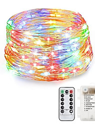 cheap -LOENDE 20m String Lights 200 LEDs Warm White / RGB / White Waterproof / Creative / Party Batteries Powered