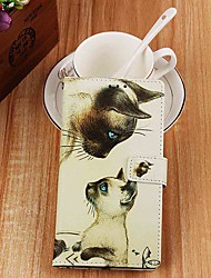 cheap -Case For Apple iPhone XR / iPhone XS Max Wallet / Card Holder / with Stand Full Body Cases Cat Confrontation PU Leather for iPhone 6s / 6s Plus / 7 / 7 Plus / 8 / 8 Plus / X / Xs