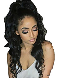 cheap -Hair weave Ponytails Party / Women Human Hair Hair Piece Hair Extension Wavy 22 inch Daily Wear / Date / Street