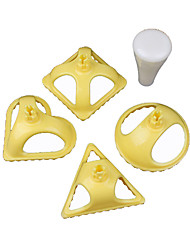 cheap -Delidge 4pcs/set Plastic Dumpling Molds 4 Shapes Dumpling Press Tool Chinese jiaozi Kitchen Tool Cooking Pastry Dumpling Mold