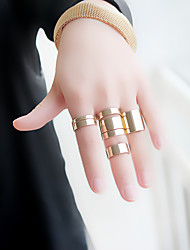cheap -Women's Ring Set 8pcs Gold Silver Alloy Stylish Unique Design Fashion Gift Daily Jewelry Geometrical Cool