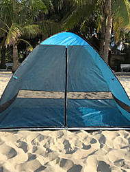 cheap -3 person Screen Tent Family Tent Outdoor Lightweight Windproof UV Resistant Single Layered Automatic Camping Tent 1000-1500 mm for Fishing Beach Camping / Hiking / Caving Coating Terylene 200*120*130