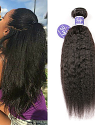 Недорогие -3 Связки Бразильские волосы Вытянутые Не подвергавшиеся окрашиванию 100% Remy Hair Weave Bundles Человека ткет Волосы Удлинитель Пучок волос 8-28 дюймовый Естественный цвет Ткет человеческих волос