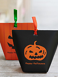 cheap -12pcs Halloween Paper Pumpkin Bag Festive Party Decorations Gift Bags Halloween Supplies