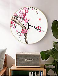 cheap -Framed Art Print Framed Canvas Prints - Still Life Floral / Botanical Wood Oil Painting Wall Art