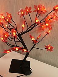 abordables -1 pc led créatif feuille d'érable en pot modélisation nuit lumière chaude partie blanche décor à la maison 220-240 v