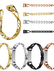 cheap -For Fitbit Alta / Alta HR X-Shape Diamond Fashion Stainless Steel Watchband Wrist Band Strap