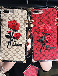 cheap -Case For Apple iPhone XS / iPhone XR / iPhone XS Max Shockproof / Pattern Back Cover Flower Metal