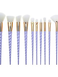cheap -Professional Makeup Brushes 10pcs Soft New Design Color Gradient Plastic for Makeup Brush