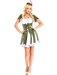 cheap -Girl Costume Women's Fairytale Theme Halloween Performance Cosplay Costumes Theme Party Costumes Women's Dance Costumes Polyester Lace-up
