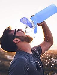 Недорогие -LITBest чашка 600 ml Силиконовые Складной для На открытом воздухе 1 pcs Синий Розовый