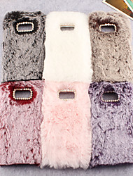 cheap -Case For Samsung Suitable For Note 9/8 Long Hair S6/S7/S8/S9 Anti-drop Mobile Phone Case M10/M20 Plush Soft Shell S6Edge/S7Edge/S8 Plus/S9 Plus/S10E/S10 Plus Solid Color All-inclusive