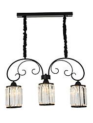 Недорогие -3-Light 70 cm Люстры и лампы Металл Кристаллы Окрашенные отделки Modern 110-120Вольт / 220-240Вольт