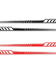 cheap -2pcs/Set Car Auto Body Stickers Long Stripe Side Skirt Decoration Vinyl Decals