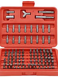 Недорогие -100шт / комплект электрические биты отвертки пакетной головки с красным корпусом