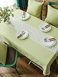 cheap -Casual polyester fibre Square Table Cloth Floral Patterned Water Resistant Table Decorations