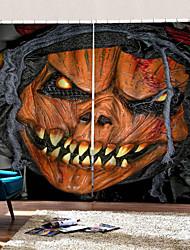 Недорогие -Горячая внешняя торговля 3d цифровая печать шторы счастливый хэллоуин ужас картина фон занавес затемнение теплоизоляция пользовательские стержень комплект занавес