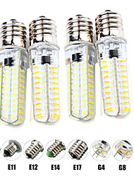 cheap -4pcs 6 W LED Corn Lights LED Bi-pin Lights 600 lm E14 G9 G4 T 80 LED Beads SMD 2835 Dimmable Warm White White 220-240 V 110-120 V
