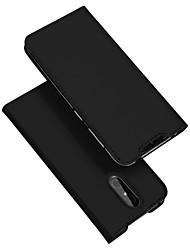 Недорогие -Кейс для Назначение Nokia Nokia 3.2 Бумажник для карт / со стендом / Флип Чехол Однотонный Кожа PU / ТПУ