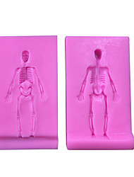 cheap -Halloween 3D Skull silicone fandont mold Silica gel moulds Chocolate molds candy mould silicone molds