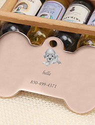 cheap -Personalized Customized Poodle Dog Tags Classic Gift Daily 1pcs Gold Silver Rose Gold