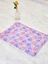 cheap -Dog Rabbits Cat Mattress Pad Bed Beds Bed Blankets Mats & Pads Plush Fabric Plush Patchwork White Purple Pink