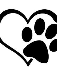 Недорогие -милая собака лапа с персиковым сердцем автомобиль стикер мультфильм животных автомобиль наклейки