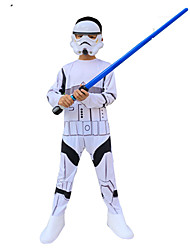 cheap -Anakin Skywalker Cosplay Costume Outfits Masquerade Boys' Girls' Movie Cosplay A-Line Slip Cosplay Halloween White Leotard / Onesie Mask Halloween Carnival Masquerade Polyster