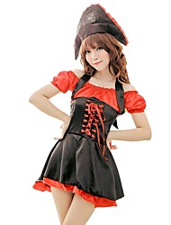 cheap -Women's Layered / Pleated Uniforms & Cheongsams / Suits Nightwear Solid Colored Red One-Size / Halter Neck / Off Shoulder