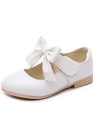 cheap -Girls' Flower Girl Shoes PU Flats Little Kids(4-7ys) Bowknot White / Pink / Gold Summer