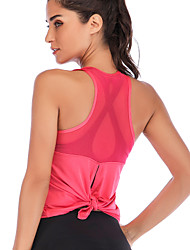 cheap -Women's Yoga Top Strap Tank Solid Color Cotton Zumba Fitness Gym Workout Vest / Gilet Top Activewear Breathable Moisture Wicking Quick Dry Inelastic