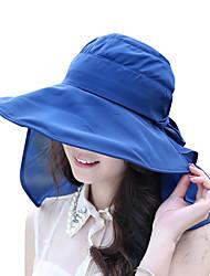 Недорогие -Жен. Классический Шляпа от солнца Полиэстер,Однотонный Пурпурный Оранжевый Темно синий